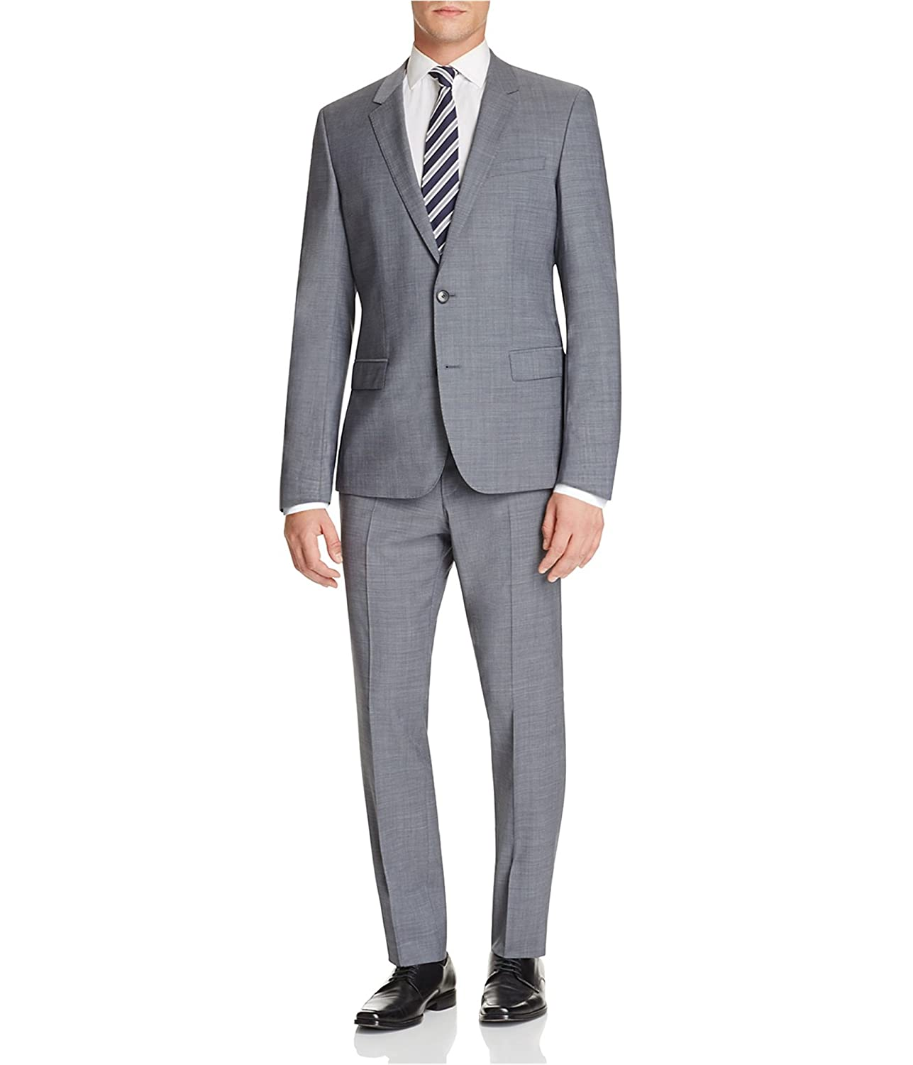 online here official on feet at Amazon.com: Hugo Boss Mens Genuis Two Button Suit Grey 46x35 ...