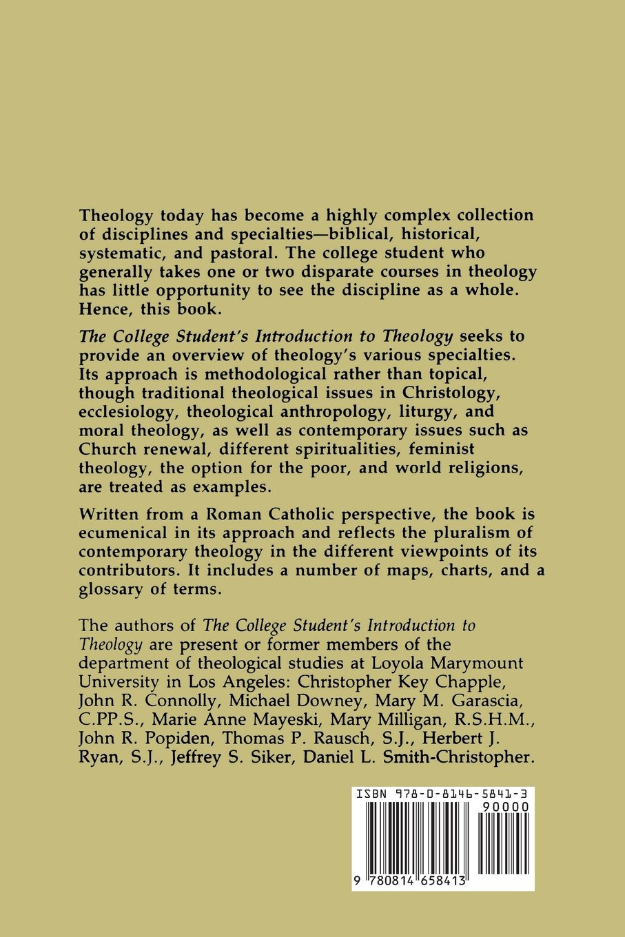 The College Student's Introduction To Theology: Thomas P. Rausch:  9780814658413: Amazon.com: Books