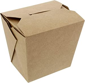 Spec101 Take Out Boxes, Brown 50 Pack - Chinese Food Boxes, Chinese Food Containers Chinese Take Out Boxes 16 oz