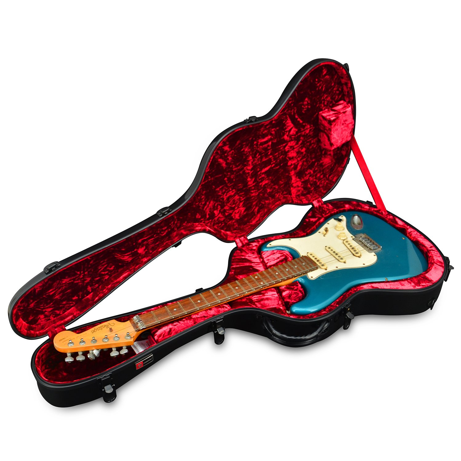crossrock crf1000ebk fiberglass electric guitar case