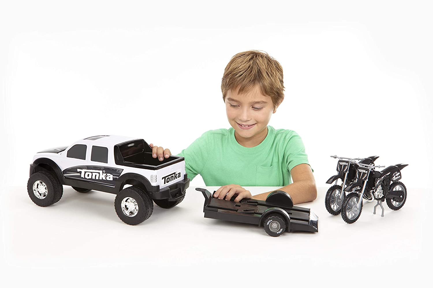 07750 Tonka Off Road Hauler with Motorcycles Funrise Inc