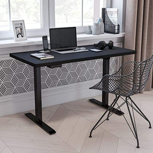 Flash Furniture Electric Height Adjustable Standing Desk - the best home office desk for the money