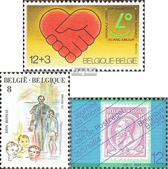 Bosco Timbre compl/ète.Edition. Belgique mer.-no.: 2180,2181,2184 Timbre sur Le Timbre Timbres pour Les collectionneurs Don g 1984 loterie