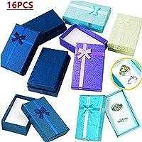 16pcs bijoux bijoux cadeaux boîtes affichage bagues, colliers, boucles, petites montres bracelet l'emballage des cadeaux