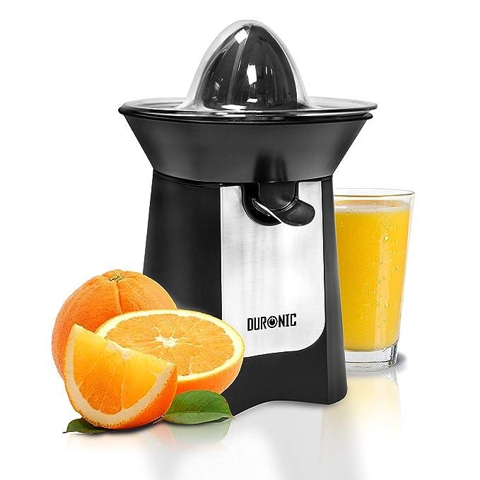 Duronic JE6 BK Exprimidor Naranjas de 100W Eléctrico Surtidor Antigoteo Filtro Regulador de Pulpa, 2 Conos y Tapa: Amazon.es: Hogar