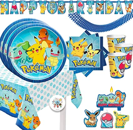 48 Pieces Pokemon Pikachu and Friends Party Beverage Napkins