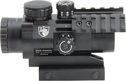 CCOP Outdoor Products Tactical Prism Scope, 2.5x32mm, Red/Green
