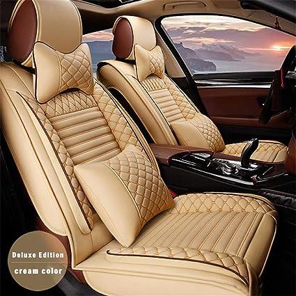 Dbl Leder Vordersitze Sitzbezüge Set Für L Exus Ct Ct200h Kompatibel Mit Airbag Sitzprotektoren Farbe Beige Auto