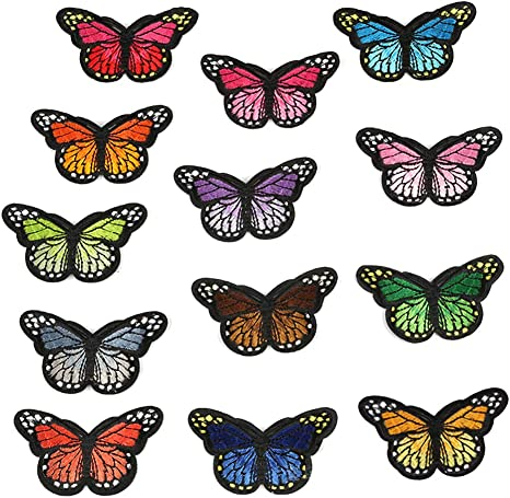 Butterfly Patches Embroidered Badge Iron and Sew Patch Applique for DIY Decor T-Shirt Jacket Shoes Bags Repair Patch 50