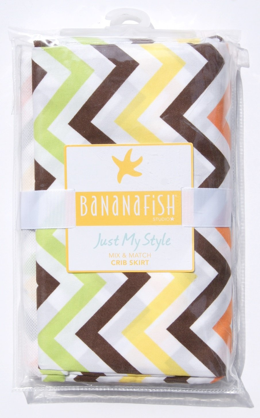 BananaFish Studio Collection Fall Toned Chevron Crib Bedding Skirt