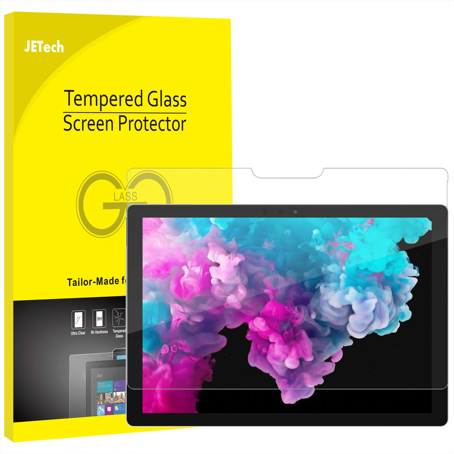 JETech Screen Protector for Microsoft Surface Pro 6 / Surface Pro (5th Gen) / Surface Pro 4, Tempered Glass Film 0905