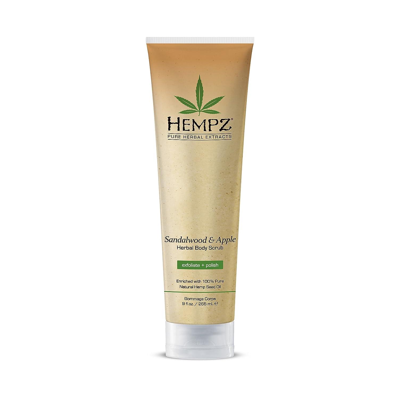 Hempz Sandalwood and Apple Herbal Body Scrub, 9 Ounce