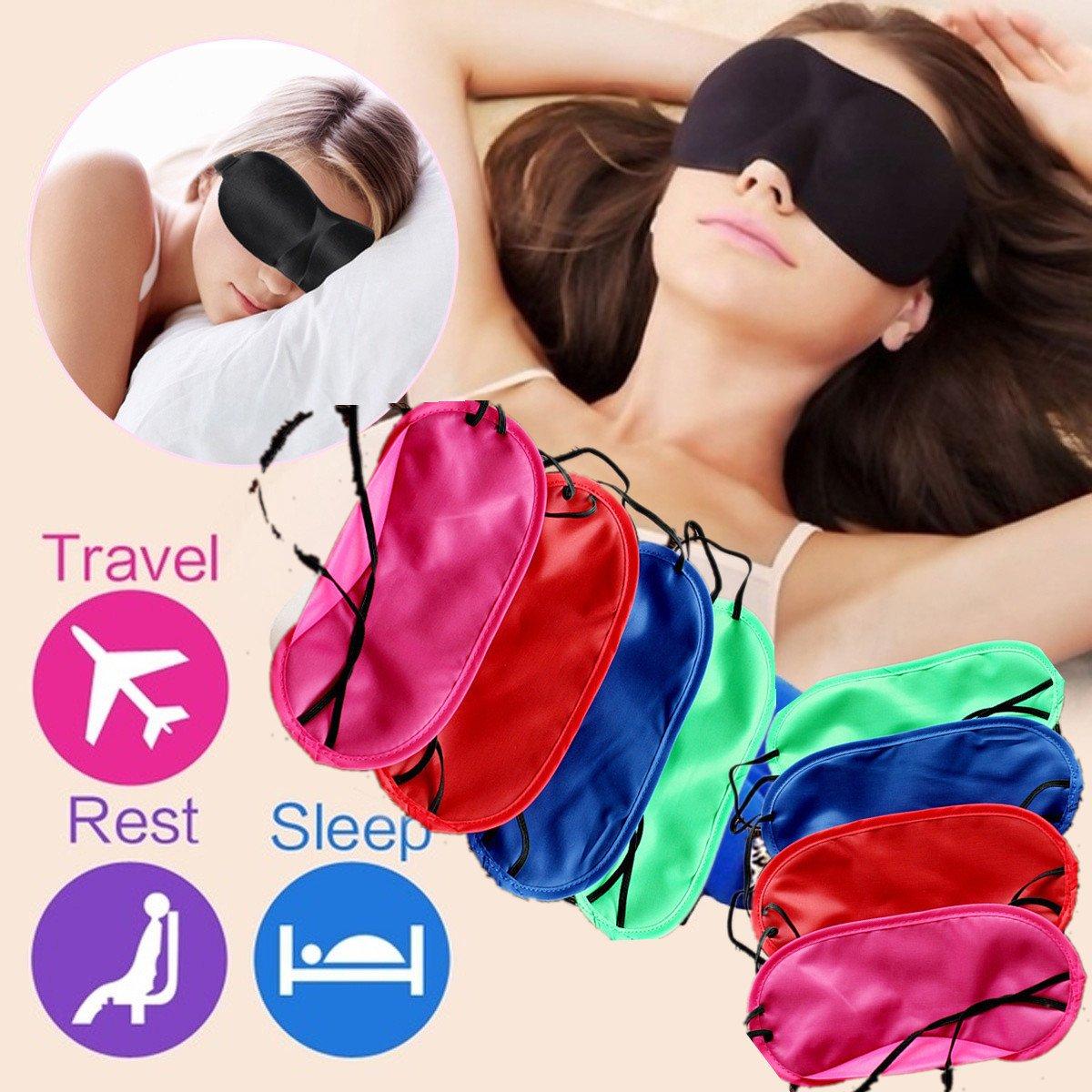 Jeeke Pure Silk Eye Mask Cute Expression Travel Sleep Mask for A Full Night's Sleep (Black, 19cmx8.5cm)