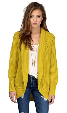 dc2d53b3ba0 Women s Cut Out Open Drape Cardigan Long Sleeve Solid Color Sweater ...