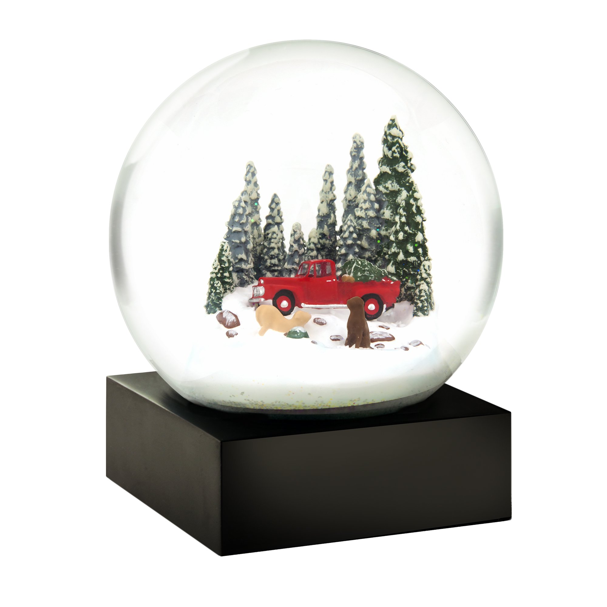 CoolSnowGlobes Red Truck and Dogs Cool Snow Globe by CoolSnowGlobes
