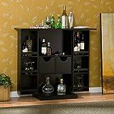 Stylish Bar Cabinet - Mini Home Liquor Wine Glass Storage Expandable Furniture