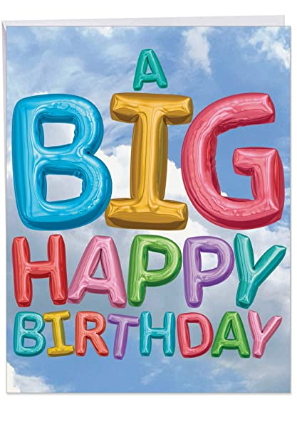 Inflated Messages From Us Birthday Large Card W Envelope 85 X 11 Inch