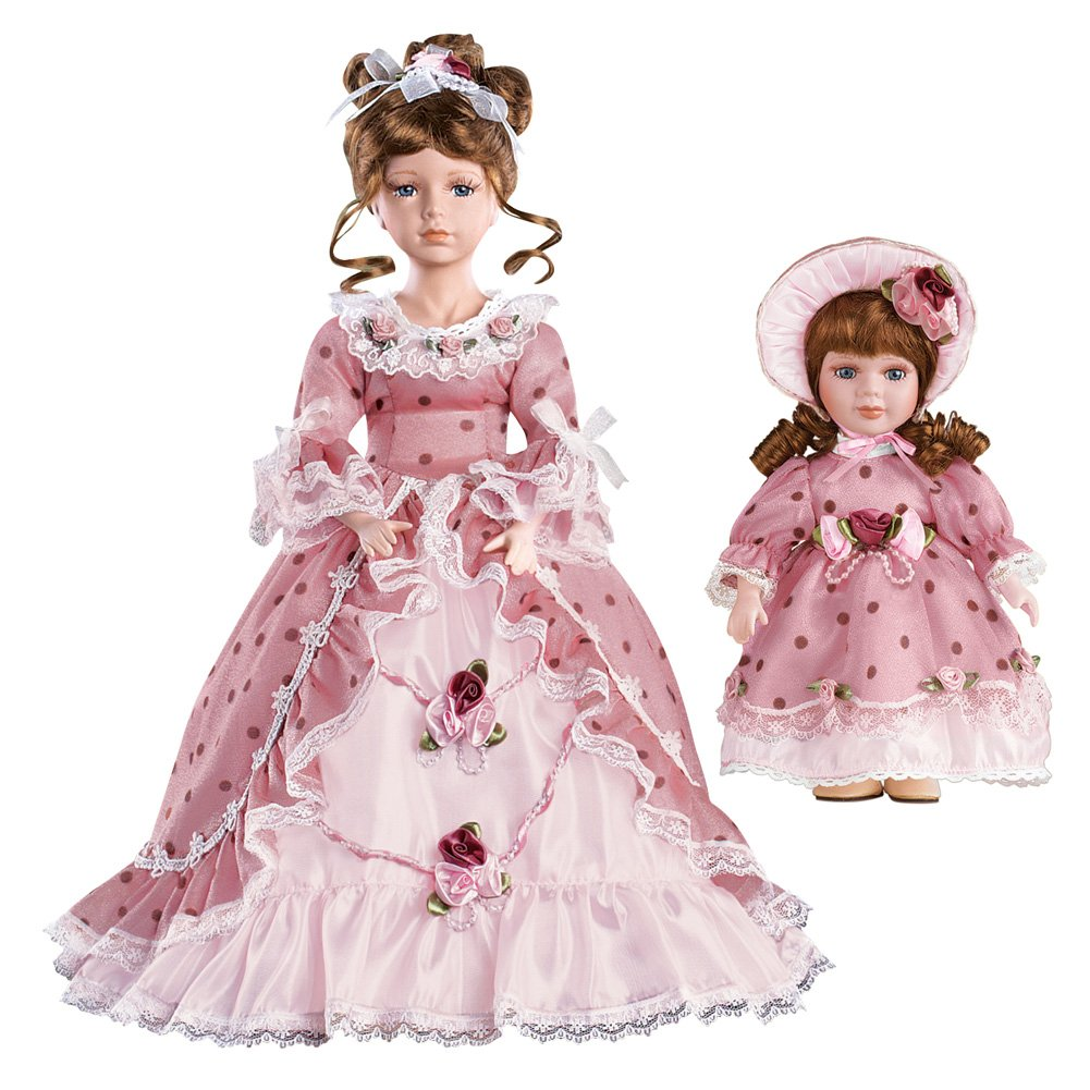 Women's Collectible Mother And Daughter Victorian Doll Set