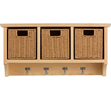 Merveilleux Modern And Stylish HOME Pine Wall Mounted Storage Unit With Baskets