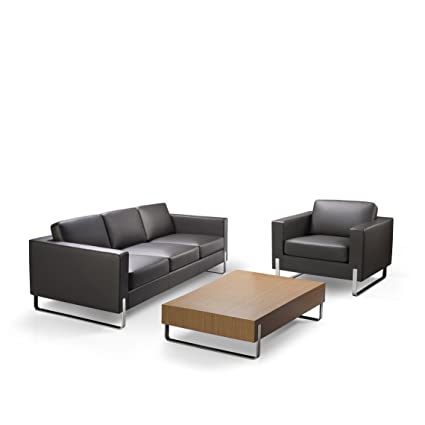 Brilliant Lakdi Fully Cushioned Combo 3 Seater Sofa With Wooden Veneer Table Ideal For Home Black Machost Co Dining Chair Design Ideas Machostcouk
