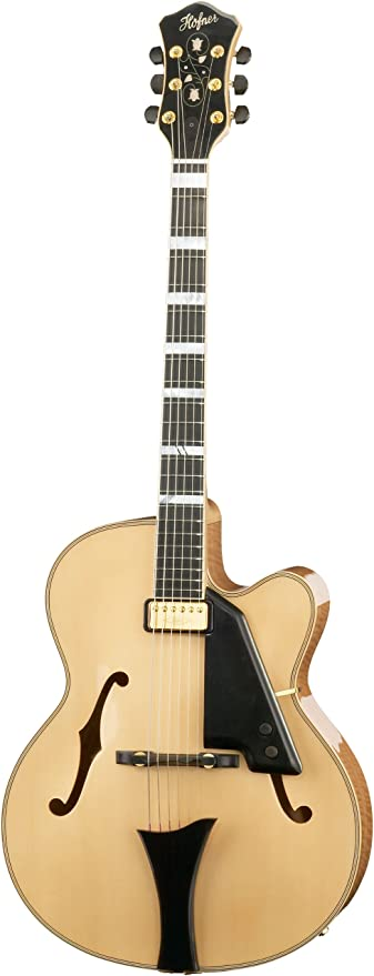 Hofner New President Archtop guitarra jazz – Natural: Amazon.es ...