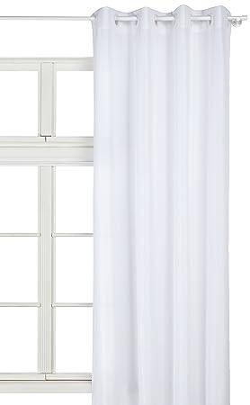 Douceur d\'Intérieur Rideau Oeillets Polyester Uni Essentiel Blanc ...