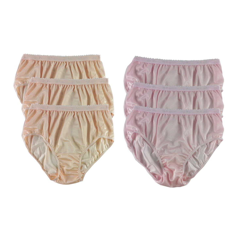07d62760d14b CKSL12 Lots 6 pcs New Floral Panties Half Briefs Sheer Nylon Underwear for  Women & Men Plus Size (L(US:6/EU:44)) at Amazon Women's Clothing store: