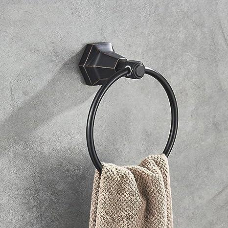 Accesorios de baño Yomiokla - Toalla de metal para cocina, inodoro, balcón y bañoBlack