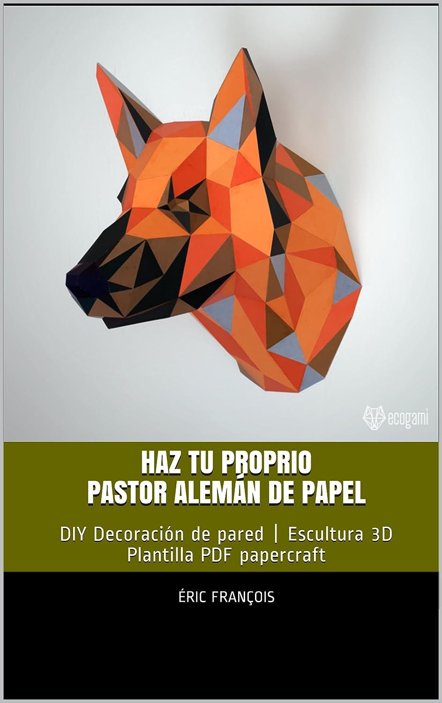 Haz tu proprio Pastor alemán de papel: DIY Decoración de pared ...