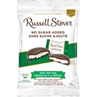 Russell Stover Mint Patties No Sugar Added Dark Chocolate Bag, 85g