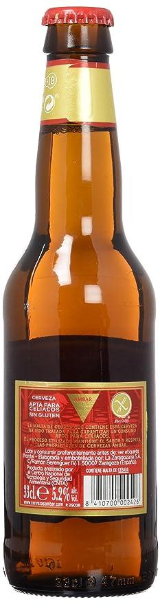 Ambar Celiacos Cerveza - 33 cl: Amazon.es: Amazon Pantry