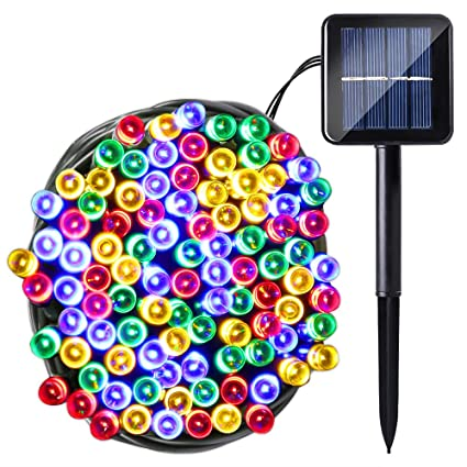 Amazon.com: ledmo Solar Luces LED, Navidad luces, 50 LEDs ...