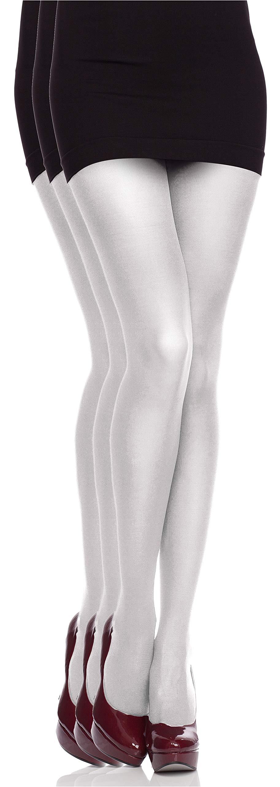 Collant da donna in cotone caldo morbido opaco Nero Antracite S-M-L-XL