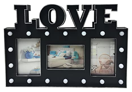 Just Contempo Love Led Light Up Photo Frame Black Amazon