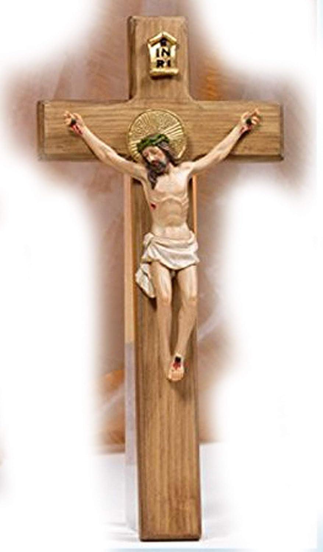 Crocifisso in resina da parete Dimensioni cm. 29 Paben