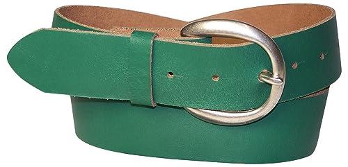 FRONHOFER cinturón de señora, 4 cm, cinturón de cuero, cinturón señora, caqui, crema, burdeos, coñac...