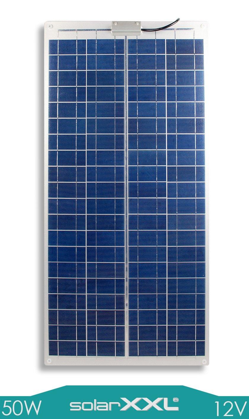 50W Watt Marine Solarmodul 12V Volt Solarpanel - Semi-Flexibel - Boot - Yacht - Camping - solarXXL