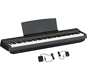 636d1ade108 Yamaha P125 88-Key Weighted Action Digital Piano with Power Supply and  Sustain Pedal