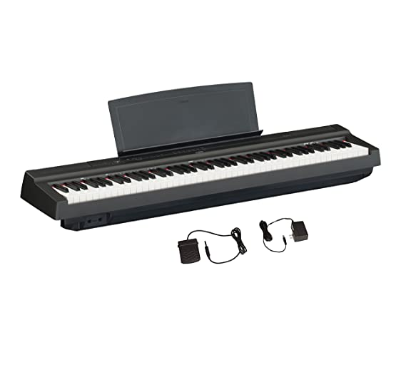 ihocon: Yamaha P125 88-Key Weighted Action Digital Piano With Power Supply And Sustain Pedal, Black 雅馬哈125 88鍵配重功能數碼鋼琴,帶電源和延音踏板,黑色