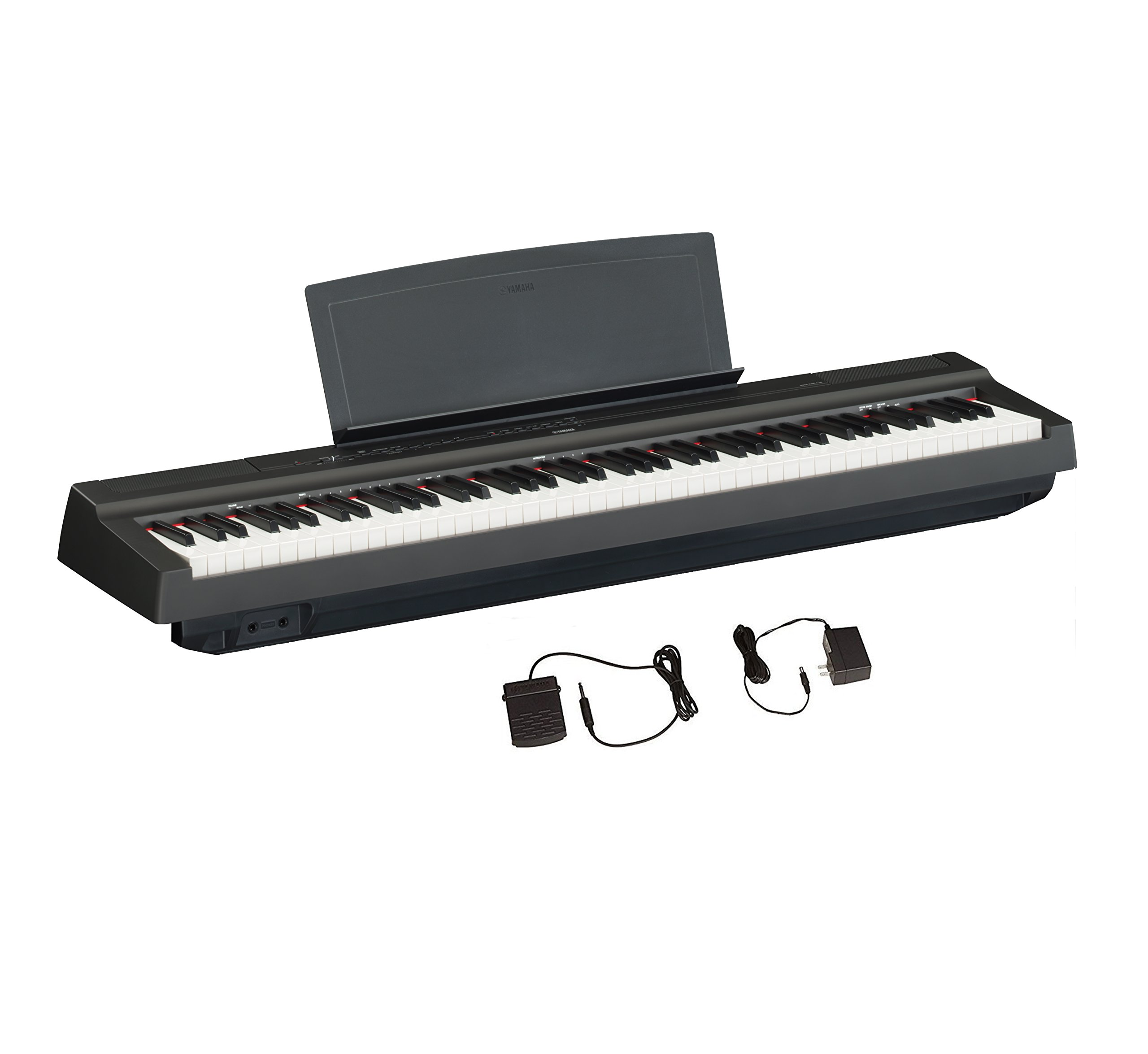 Yamaha P125 88-Key Weighted Action Digital Piano with Power Supply and Sustain Pedal, Black by YAMAHA (Image #1)