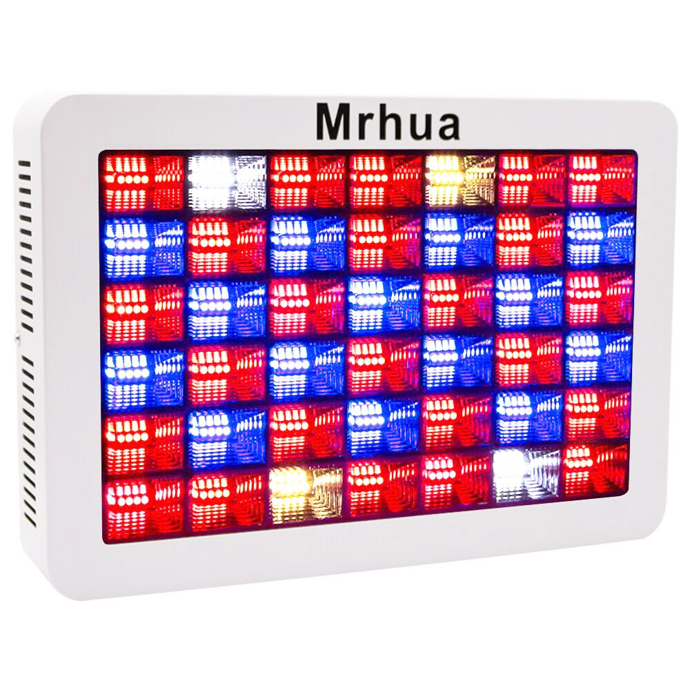 Plant LED Grow Light Full Spectrum 600W, Reflector LED Grow Lamp with Dasiy Chain, for Greenhouse Hydroponic Indoor Plant Growth by Mrhua(168pcs LEDs Actual 200W) by Mrhua