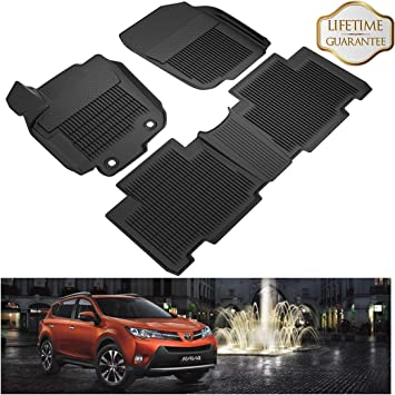 ALL WEATHER RUBBER CAR MAT TRAY SET for TOYOTA RAV 4 ALL MODELS