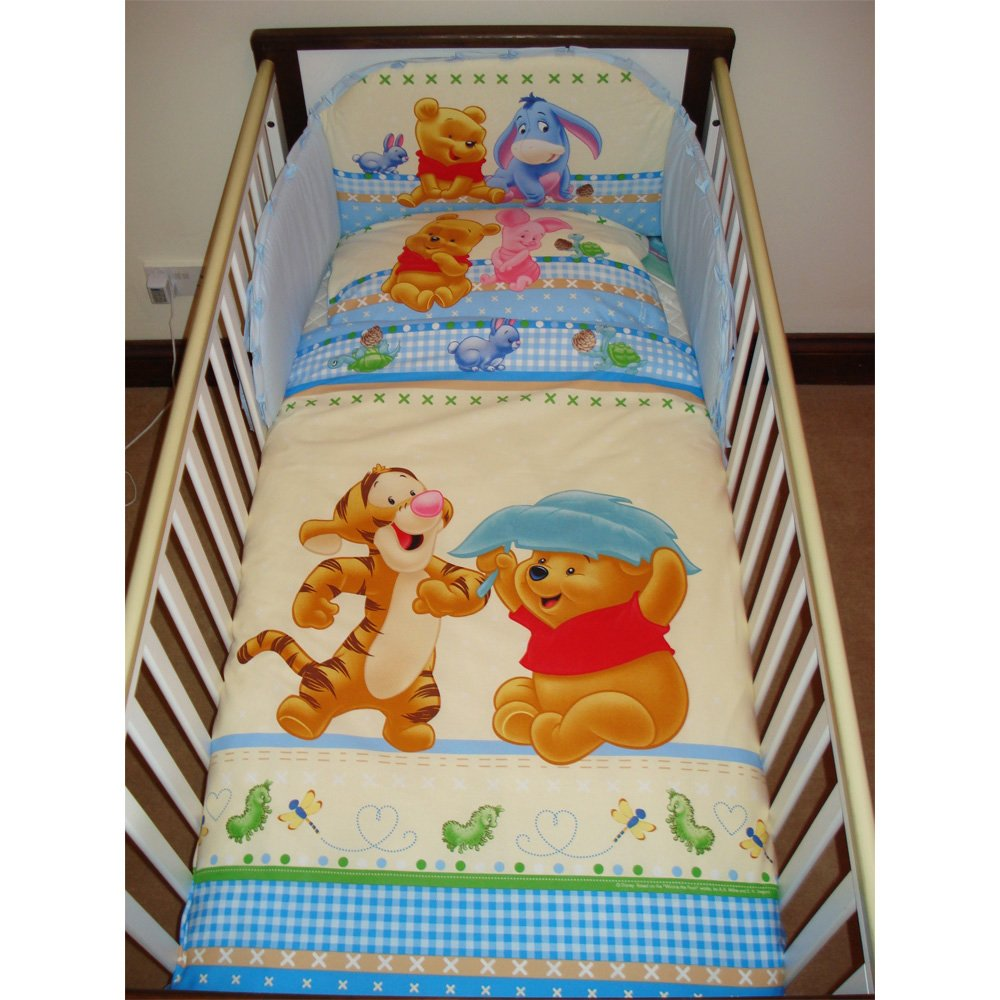 Disney Winnie & Tigger Bedding Set for Cot or Cotbed Blue (Cotbed - 140 x 70cm) SleepLittleBaby