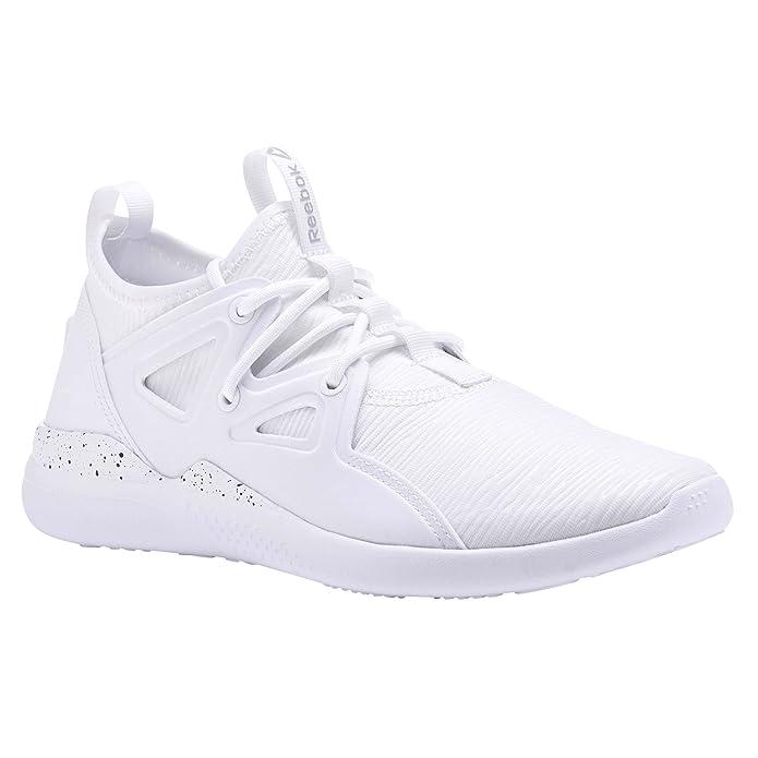 Reebok Cardio Motion, Chaussures de Fitness Femme, Blanc (White/Black/Matte Silver 000), 37 EU
