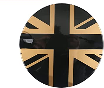 Gas Tank Door Cover Fuel Cap Cover Gas Lid Cover for Mini Cooper S Clubman Hatchback Covertible F54 F56 F57 S Model only Union Jack Gold