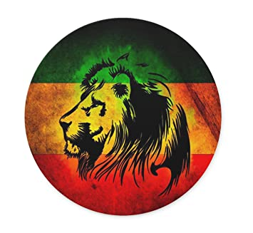 Rasta Lion Wallpaper Design Personalized Round Desktop Mousepad