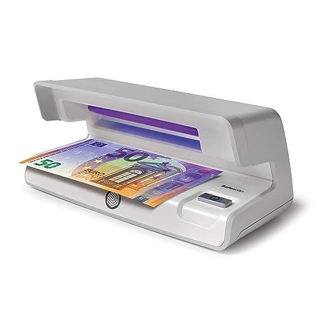 Safescan 50 Gris - Detector UV de billetes falsos, verificación de tarjetas de crédito y
