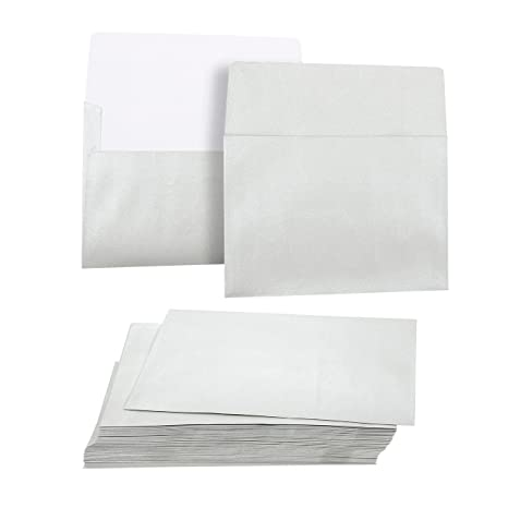 amazon com juvale 50 pack metallic silver a7 envelopes for 5 x 7