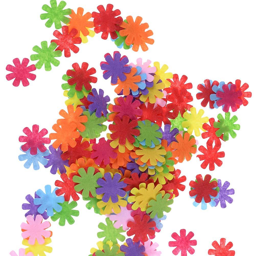 100pcs Craft Felt Flowers Multipurpose Embellishments Fabric Flowers 1.1inch, Assorted Colors