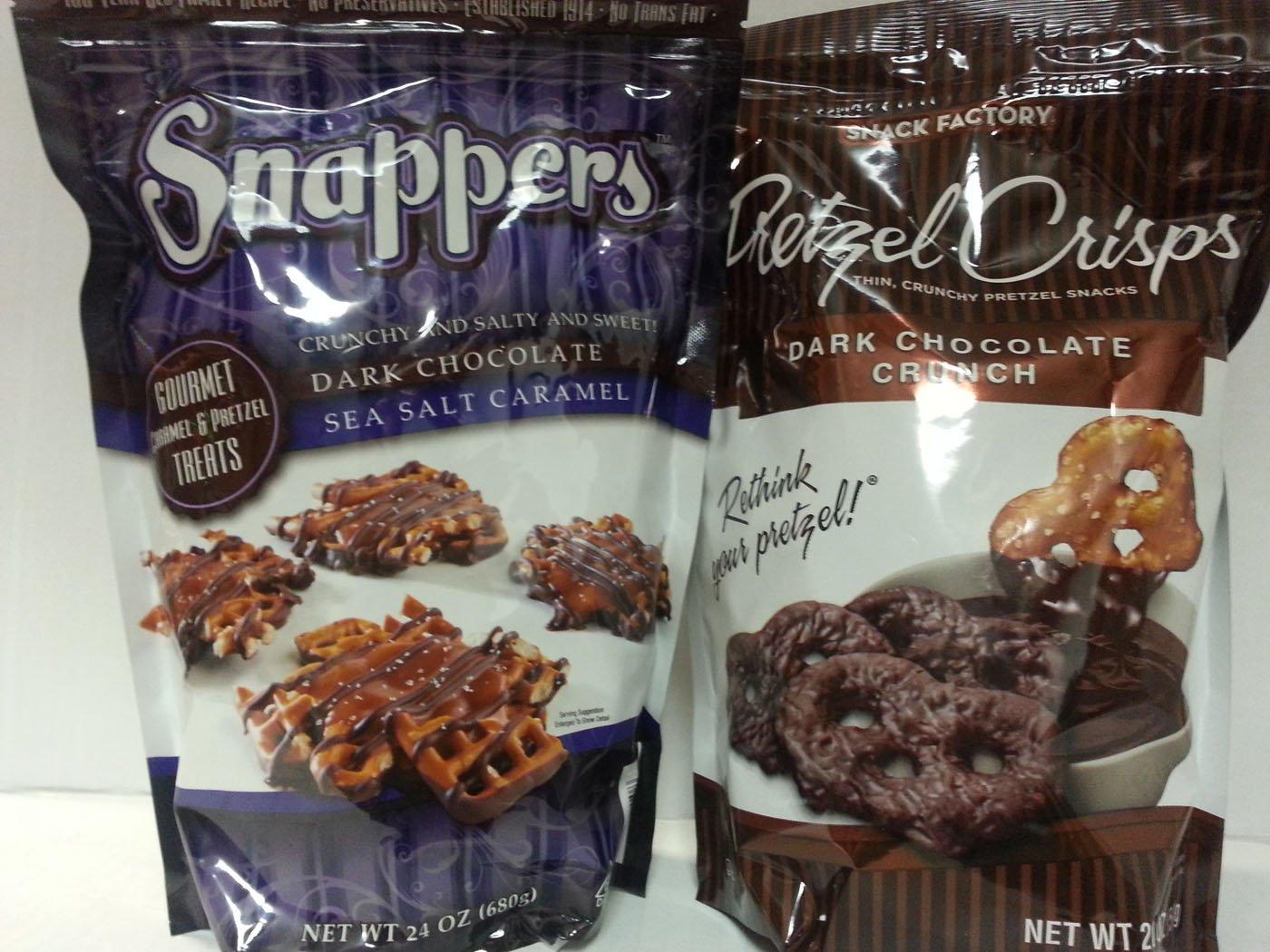 Amazon.com : Snappers Dark Chocolate Sea Salt Caramel Gourmet ...